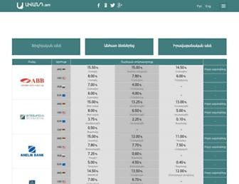 Main page screenshot of avand.am