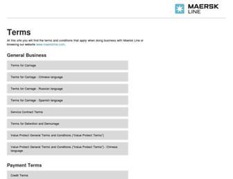 terms.maerskline.com screenshot