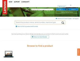 pcsupport.lenovo.com screenshot