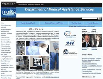 dmas.virginia.gov screenshot
