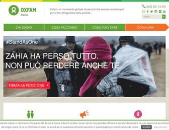 Main page screenshot of oxfamitalia.org
