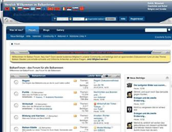 Main page screenshot of balkanforum.info