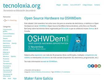 Main page screenshot of tecnoloxia.org