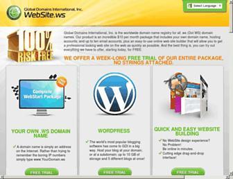 Main page screenshot of proxylist.ws