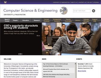 cs.washington.edu screenshot