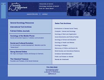Main page screenshot of socio.ch