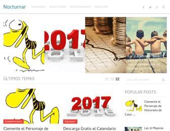 Main page screenshot of nocturnabsas.com.ar