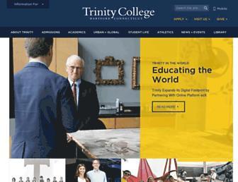 trincoll.edu screenshot