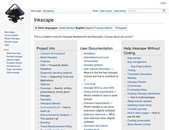 wiki.inkscape.org screenshot