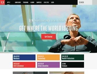 davenport.edu screenshot