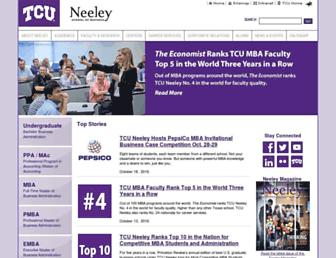 neeley.tcu.edu screenshot