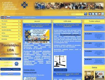 Main page screenshot of lidarodbiedriba.lv