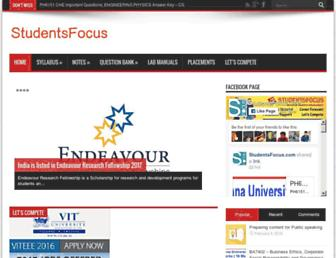 studentsfocus.com screenshot