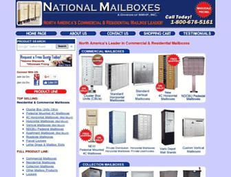 nationalmailboxes.com screenshot