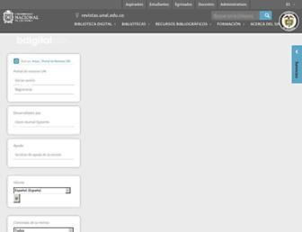 revistas.unal.edu.co screenshot