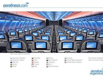 Thumbshot of Aerolineas.com.ar