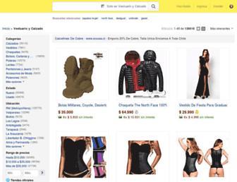 vestuario.mercadolibre.cl screenshot