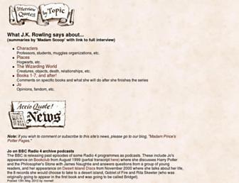 Main page screenshot of accio-quote.org