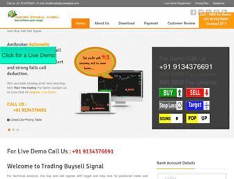 tradingbuysellsignal.com screenshot