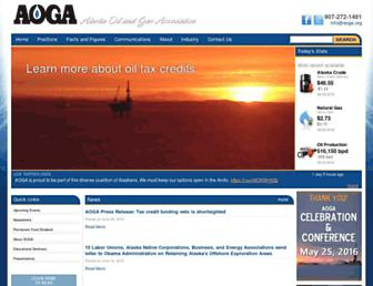 Main page screenshot of aoga.org