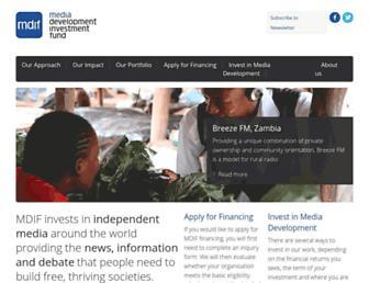 mdif.org screenshot