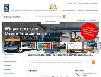 volkswagen-classic-parts.de screenshot