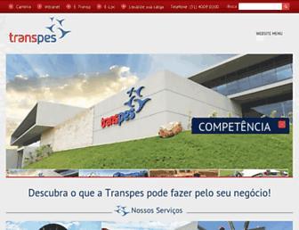 transpes.com.br screenshot