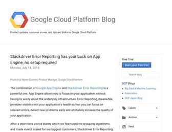 googleappengine.blogspot.com screenshot