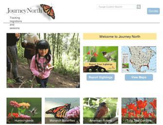 journeynorth.org screenshot