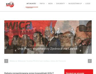 Main page screenshot of uniapracy.org.pl