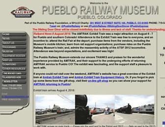 pueblorailway.org screenshot