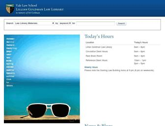 Main page screenshot of library.law.yale.edu