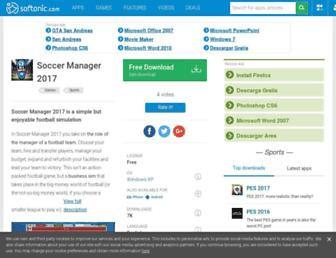 soccer-manager-2017.en.softonic.com screenshot