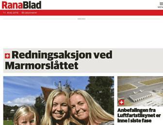 Main page screenshot of ranablad.no