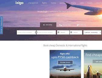 ixigo.com screenshot