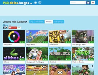 paisdelosjuegos.cr screenshot