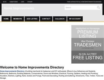 Main page screenshot of homeimprovementsdirectory.co.uk