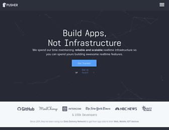 pusher.com screenshot