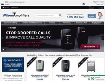 wilsonamplifiers.com screenshot