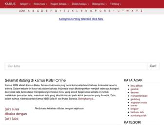 kbbi.kata.web.id screenshot