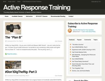 Main page screenshot of activeresponsetraining.net