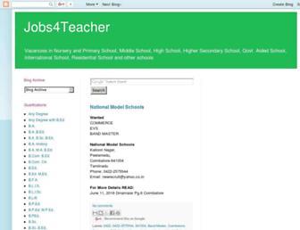 jobs4teacher.blogspot.com screenshot