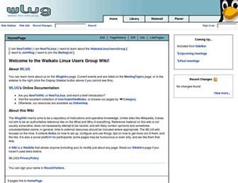 wiki.wlug.org.nz screenshot