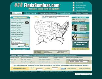 Thumbshot of Findaseminar.com