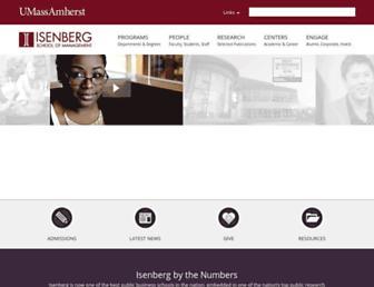 isenberg.umass.edu screenshot