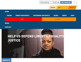 aclu.org screenshot
