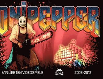 Main page screenshot of onipepper.de