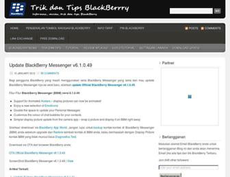 trikdantipsblackberry.wordpress.com screenshot