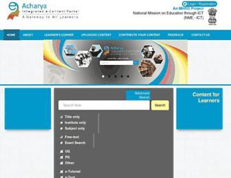 eacharya.inflibnet.ac.in screenshot