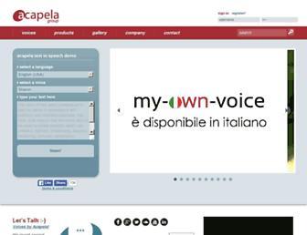Thumbshot of Acapela-group.com